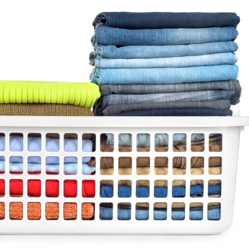 Laundry neatly organized - towels